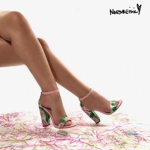 JustFab Lena Heeled Sandal•Tropical